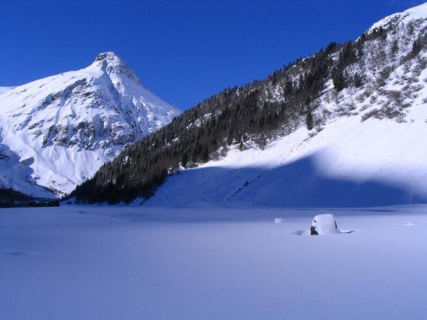 Foto: Andreas Koller / Ski Tour / Innergschlöss und Zeigerpalfen (2506 m) / Der Ochsenwald, durch den die Anstiegsroute führt / 12.02.2007 19:35:21