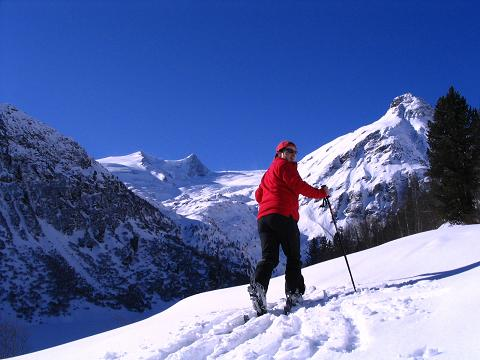 Foto: Andreas Koller / Ski Tour / Innergschlöss und Zeigerpalfen (2506 m) / Anstieg im Banne des Großvenediger / 12.02.2007 19:34:08