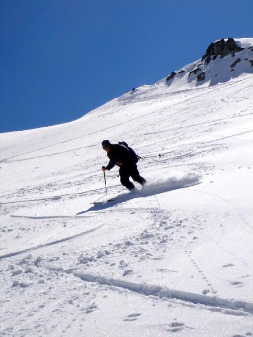 Foto: Manfred Karl / Ski Tour / Habachspitze (3064m) / Im oberen Teil der langen Abfahrt. / 13.02.2007 20:38:42