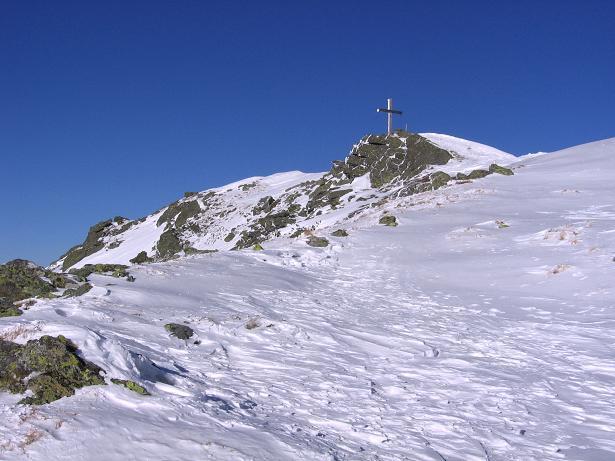 Foto: Andreas Koller / Skitour / Seekoppe (2150m) / Die letzten Meter zum Gipfelkreuz / 18.02.2007 23:44:23