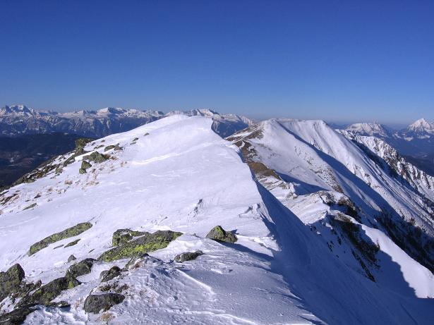 Foto: Andreas Koller / Skitour / Seekoppe (2150m) / Die N-seitige Gipfelwächte auf der Seekoppe / 18.02.2007 23:43:36