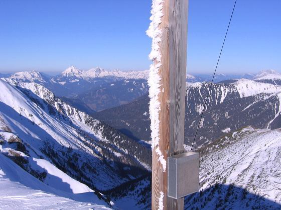 Foto: Andreas Koller / Skitour / Seekoppe (2150m) / Blick nach N zum Bosruck, Pyhrgas und der Haller Mauer / 18.02.2007 23:43:07