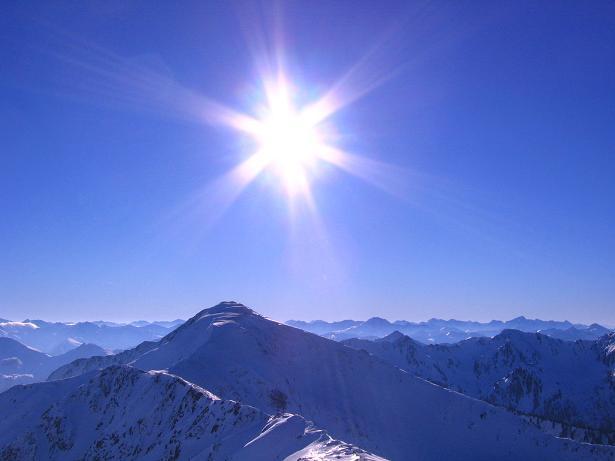 Foto: Andreas Koller / Skitour / Seekoppe (2150m) / Berg um Berg im Blick über den Hochrettelstein nach SW / 18.02.2007 23:42:13