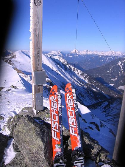 Foto: Andreas Koller / Skitour / Seekoppe (2150m) / Großes Panorama vom Gipfel der Seekoppe (nach N zum Pyhrgas) / 18.02.2007 23:41:39
