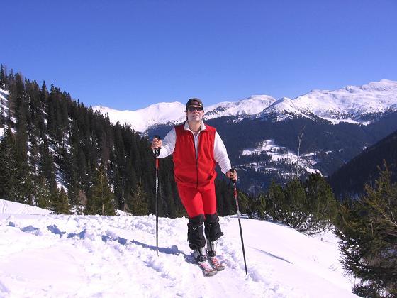Foto: Andreas Koller / Skitour / Seekoppe (2150m) / Nach Verlassen des Waldes wird der Blick frei / 18.02.2007 23:48:29
