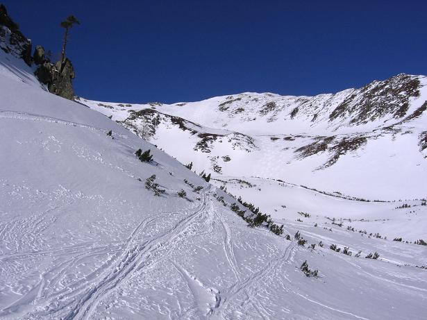 Foto: Andreas Koller / Skitour / Seekoppe (2150m) / Der Blick aus S zur Seekoppe / 18.02.2007 23:48:06