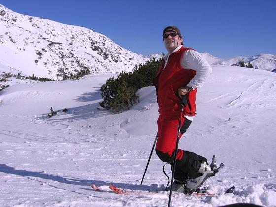 Foto: Andreas Koller / Skitour / Seekoppe (2150m) / Auf 1900 m wird das Gelände freier / 18.02.2007 23:47:38