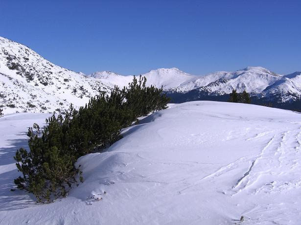 Foto: Andreas Koller / Skitour / Seekoppe (2150m) / Im Aufstieg Blick zum Hochschwung / 18.02.2007 23:46:58