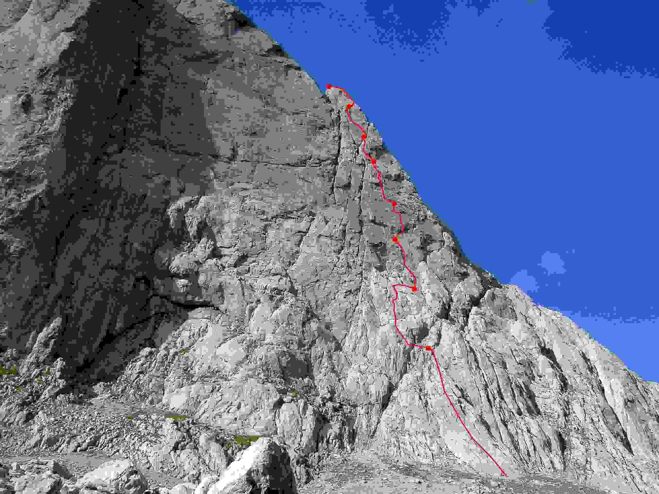 Foto: Kühberger Rudolf / Kletter Tour / Der wahre Kletterwahnsinn VIII+ / 05.03.2007 15:42:11