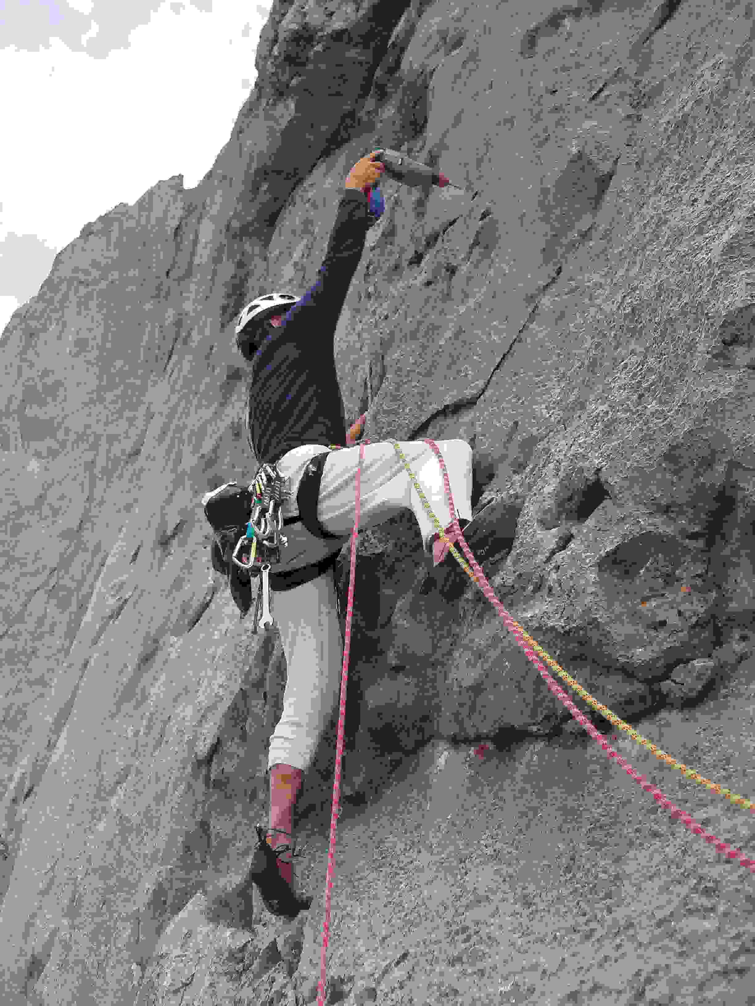 Foto: Kühberger Rudolf / Kletter Tour / Der wahre Kletterwahnsinn VIII+ / Erstbegehung am Beginn der 5. Sl.  Rudolf Kühberger / 05.03.2007 15:49:13