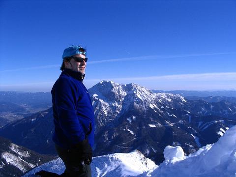 Foto: Andreas Koller / Skitour / Aus der Eisenerzer Ramsau auf drei Gipfel (2070 m) / Gipfelblick nach S zum Gösseck / 12.03.2007 13:32:37