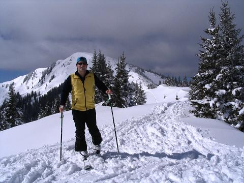 Foto: Andreas Koller / Skitour / Aus der Eisenerzer Ramsau auf drei Gipfel (2070 m) / Am Teichenegg Sattel / 12.03.2007 13:36:16