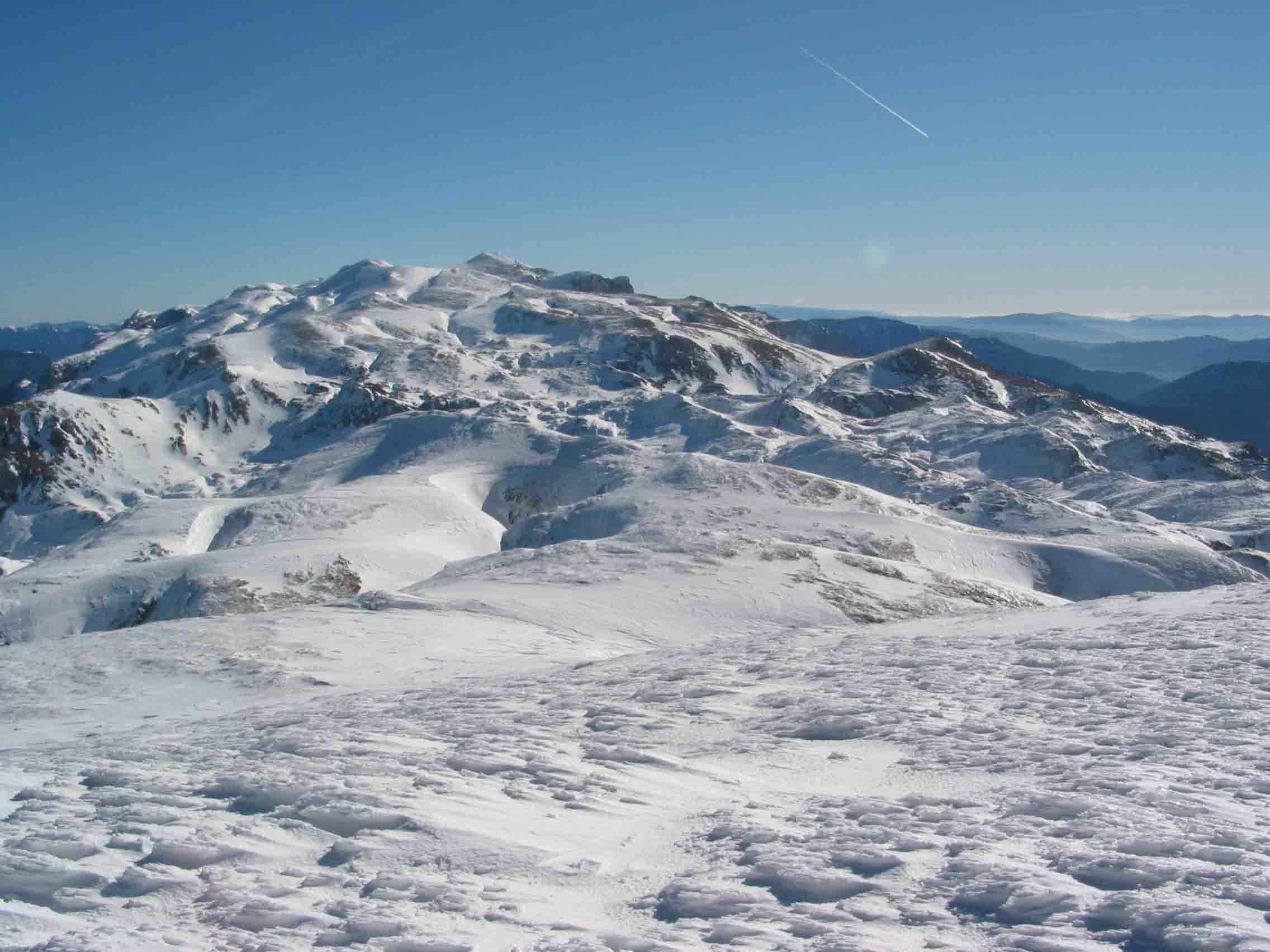 Foto: david letzbor / Ski Tour / Hinterer Polster (2057m) / Blick vom Hinteren Polster zum Hochschwab / 23.03.2007 13:09:13