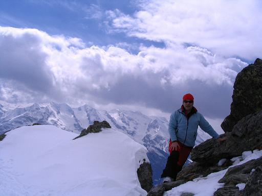 Foto: Andreas Koller / Skitour / Grindlspitze (2635m) und Rastkogel (2762m) / Recht steil geht es in der Gipfelflanke des Rastkogel zu. / 06.04.2007 11:04:43