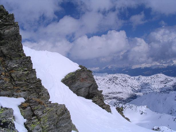 Foto: Andreas Koller / Skitour / Grindlspitze (2635m) und Rastkogel (2762m) / Felsformationen am Rastkogel / 06.04.2007 11:04:10