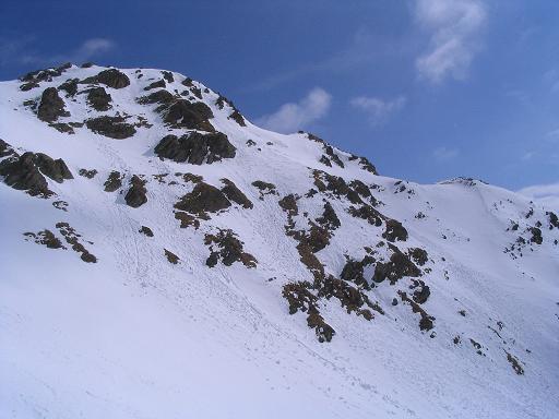 Foto: Andreas Koller / Skitour / Grindlspitze (2635m) und Rastkogel (2762m) / Südflanke der Grindlspitze / 06.04.2007 11:08:30