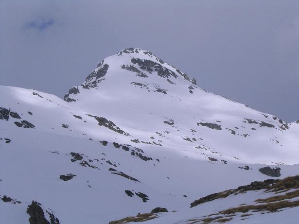 Foto: Andreas Koller / Skitour / Grindlspitze (2635m) und Rastkogel (2762m) / Der Rastkogel vom Hoarbergjoch aus gesehen / 06.04.2007 11:08:02