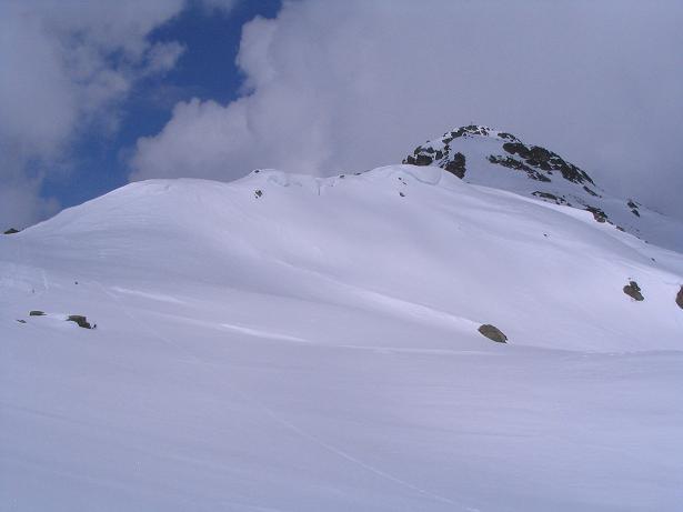 Foto: Andreas Koller / Skitour / Grindlspitze (2635m) und Rastkogel (2762m) / Der feine Grat zum Rastkogel / 06.04.2007 11:07:41
