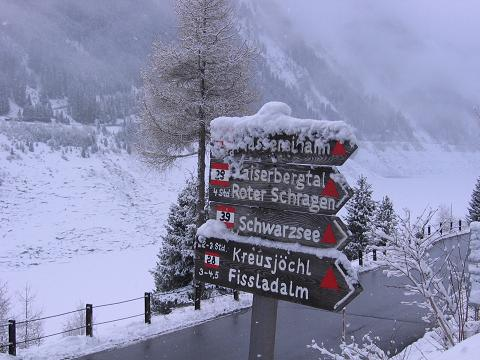 Foto: Andreas Koller / Ski Tour / Durch das stille Kaiserbergtal auf die Platzerspitze (3098m) / Abzweigung vom Gepatsch Stausee / 06.04.2007 19:45:15