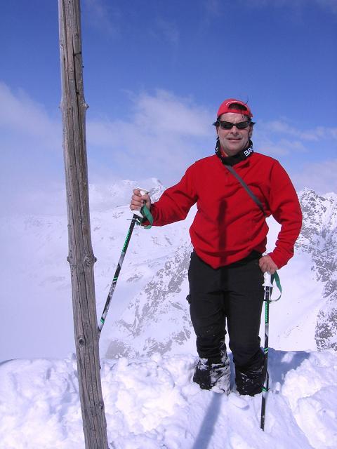 Foto: Andreas Koller / Ski Tour / Durch das stille Kaiserbergtal auf die Platzerspitze (3098m) / Am Gipfel der Platzerspitze / 06.04.2007 19:38:48