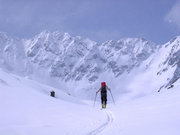 Foto: Andreas Koller / Ski Tour / Durch das stille Kaiserbergtal auf die Platzerspitze (3098m) / Anstieg im Kaiserbergtal gegen Rotschragenspitze (3112 m) / 06.04.2007 19:43:23