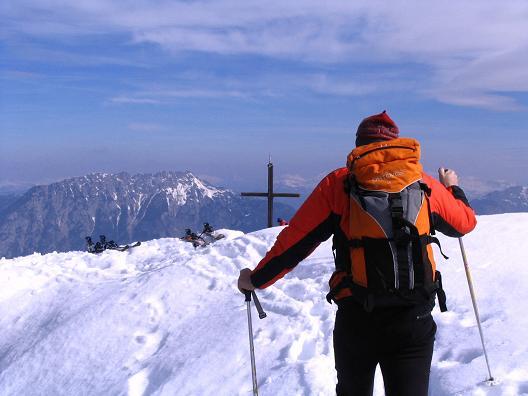 Foto: Andreas Koller / Skitour / Pleschnitzzinken mit Variationen (2112 m) / Zurück zum Pleschnitzinkengipfel vom Scheibleck / 09.04.2007 22:44:07
