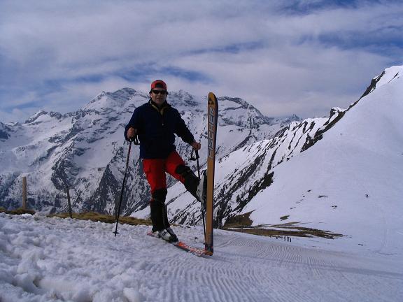 Foto: Andreas Koller / Ski Tour / Pleschnitzzinken mit Variationen (2112 m) / Im Sattel zwischen Kalteck und Pleschnitzzinken / 09.04.2007 22:49:43