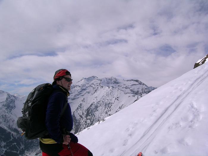 Foto: Andreas Koller / Skitour / Pleschnitzzinken mit Variationen (2112 m) / Panorama zur Hochwildstelle beim Aufstieg / 09.04.2007 22:48:28