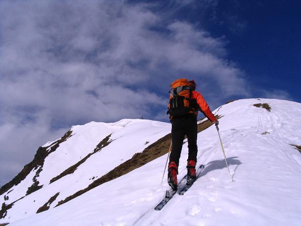 Foto: Andreas Koller / Skitour / Pleschnitzzinken mit Variationen (2112 m) / Dem Gipfel entgegen / 09.04.2007 22:48:03