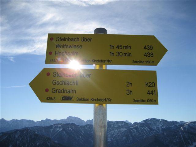 Foto: Alpinfreunde / Wander Tour / Von Steinbach am Ziehberg auf den Mittagstein / 19.04.2007 07:11:17