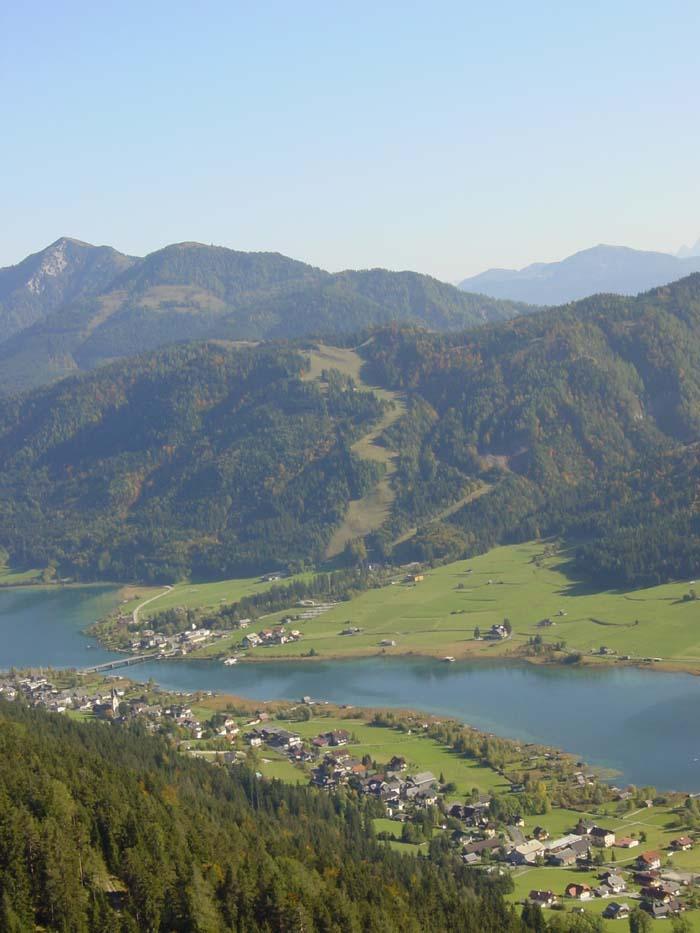 Foto: Corinna Mößlacher / Mountainbike Tour / Naggler Alm Runde  -  Weissensee / Blick auf die Weissensee Bergbahn / 04.05.2007 11:40:15