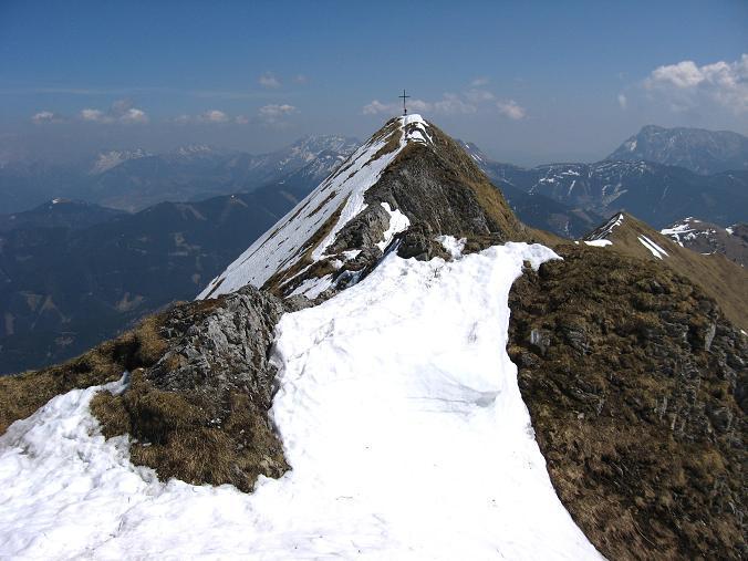 Foto: Andreas Koller / Wander Tour / Zeiritzkampel aus der Kurzen Teichen (2126 m) / Der W-Grat im Abstieg / 22.04.2007 14:26:53