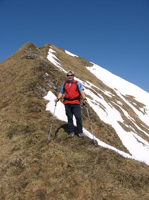Foto: Andreas Koller / Wander Tour / Zeiritzkampel aus der Kurzen Teichen (2126 m) / Auf der steilen Rippe zum O-Grat hinauf / 22.04.2007 14:31:28