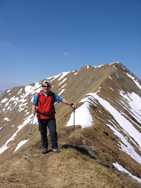 Foto: Andreas Koller / Wander Tour / Zeiritzkampel aus der Kurzen Teichen (2126 m) / Am Beginn des O-Grates zum Zeiritzkampel / 22.04.2007 14:31:07