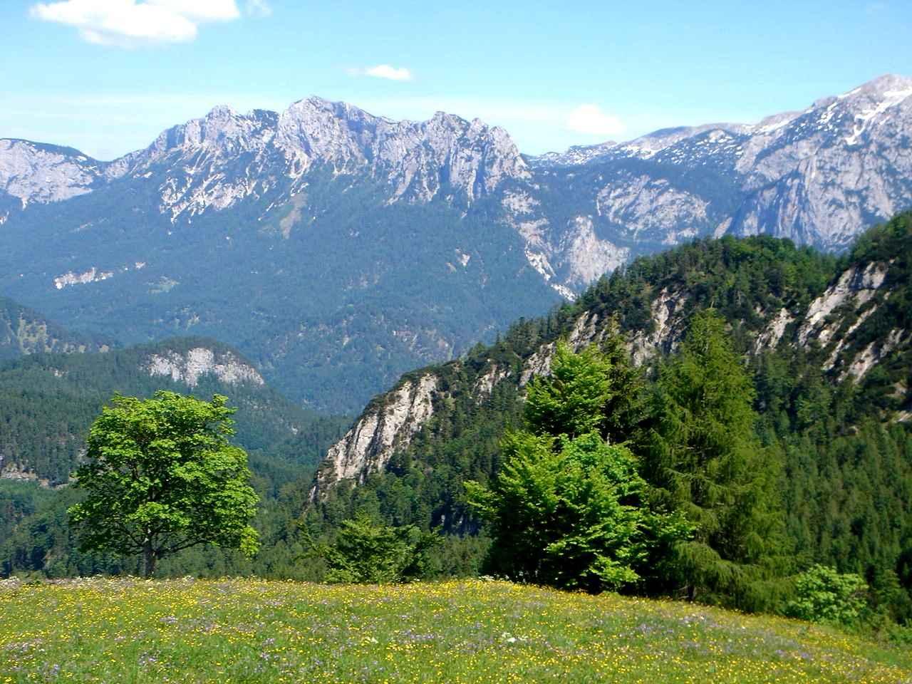 Foto: Manfred Karl / Wander Tour / Dietrichshorn (1542m) / Blick zur Reiteralpe / 26.04.2007 20:24:25