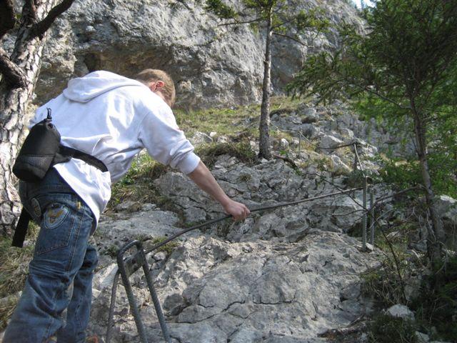 Foto: Alpinfreunde / Wandertour / Über den Naturfreundesteig auf den Traunstein / 29.04.2007 19:58:10