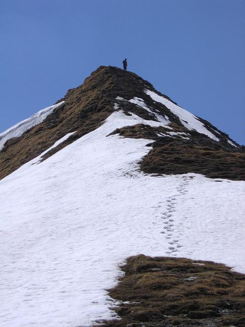 Foto: Andreas Koller / Wander Tour / Auf die Felskarspitze (2506m) / Die letzten Meter des Grates auf die Felskarspitze / 30.04.2007 20:44:57
