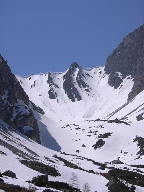 Foto: Andreas Koller / Wander Tour / Auf die Felskarspitze (2506m) / Die Hölle von der kleinen Jagdhütte / 30.04.2007 20:47:33
