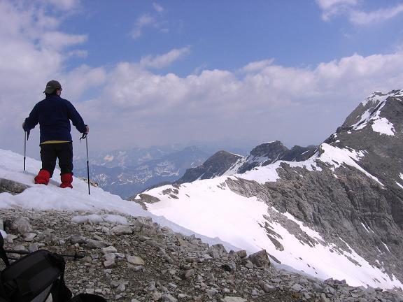 Foto: Andreas Koller / Wandertour / Große Guglspitze - stille Tour im Hochfeindkamm (2638 m) / Grat Guglspitze - Hochfeind / 30.04.2007 21:33:04