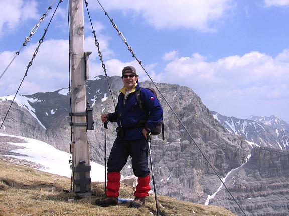 Foto: Andreas Koller / Wandertour / Große Guglspitze - stille Tour im Hochfeindkamm (2638 m) / Blick von der Kleinen Gugl zum Hochfeind / 30.04.2007 21:36:34