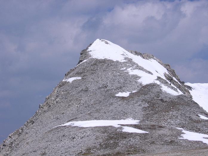 Foto: Andreas Koller / Wandertour / Große Guglspitze - stille Tour im Hochfeindkamm (2638 m) / S-Flanke auf die Große Guglspitze / 30.04.2007 21:37:45