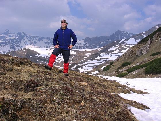 Foto: Andreas Koller / Wandertour / Große Guglspitze - stille Tour im Hochfeindkamm (2638 m) / Unterhalb der Rothenkar Scharte / 30.04.2007 21:27:05