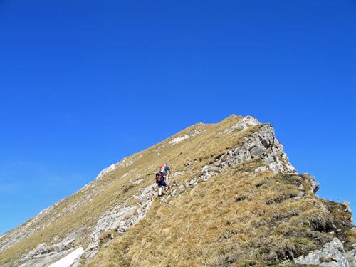 Foto: vince 51 / Wandertour / Von Wengle auf den Plattberg / Gipfelgrat / 30.04.2007 23:36:09