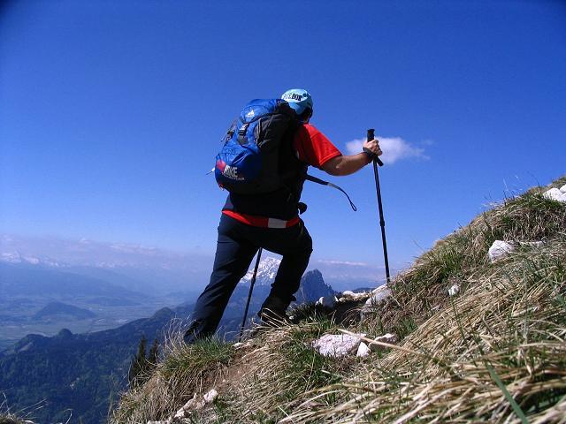 Foto: Andreas Koller / Wandertour / Angererkogel - Runde (2114 m) / Steilstufe im Nazogl-Anstieg / 02.05.2007 22:16:30