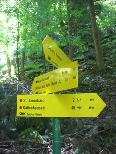 Foto: max1005 / Wander Tour / Auf den Kleinen und Großen Barmstein / Wegweiser zwischen Großen und Kleinen Barmstein / 17.06.2007 12:20:20