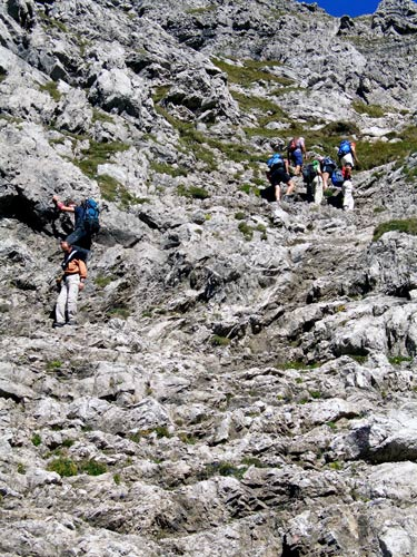 Foto: vince 51 / Wander Tour / Von Hochkrumbach auf den Grossen Widderstein / in der Südschlucht / 04.05.2007 22:36:27