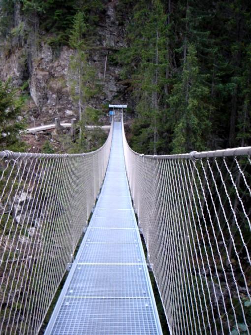 Foto: Manfred Karl / Wander Tour / Alpinsteig Höll / Auf der Hängebrücke. / 05.05.2007 20:26:49