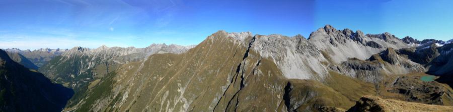 Foto: vince 51 / Wander Tour / Wanderung zur Memminger Hütte / Panorama vom Seekogel / 19.06.2007 17:20:38