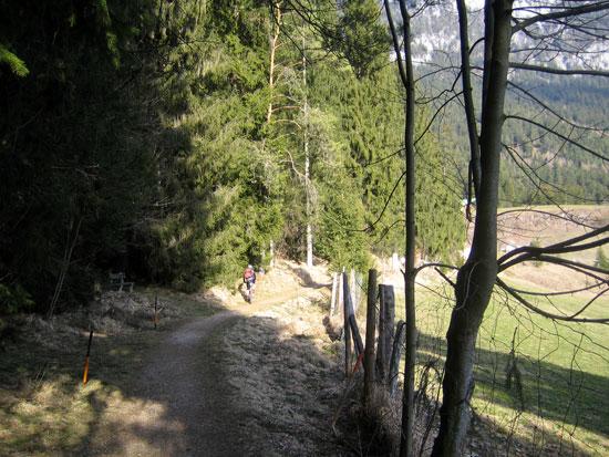 Foto: letsgoactive / Mountainbike Tour / Rund um den Untersberg / Wir bewegen uns lange Zeit auf einer Höhenlinie / 06.05.2007 17:18:36