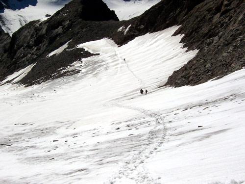 Foto: vince 51 / Wander Tour / Von Gries im Sulztal auf den Hohen Seeblaskogel (3235m) / Dre Grüne Tatzen Ferner / 06.05.2007 17:17:25